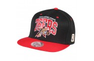 76ers Black/Red Snapback